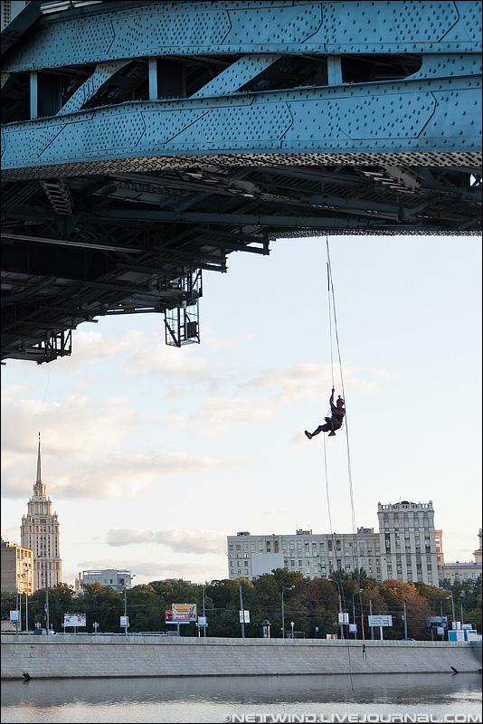 роупджампинг Мост Богдана Хмельницкого